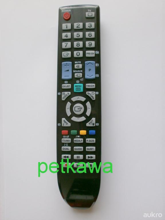 Dálkový ovladač PTW SAMSUNG TV LED PLAZMA DVD LCD univerzální UCT-033