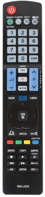 Dálkový ovladač PTW AKB72914044 LED 3D SMART