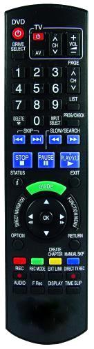Dálkový ovladač PTW DVD Panasonic N2QAYB000125 N2QAYB000127 N2QAYB000128 N2QAYB000129 N2QAYB000230