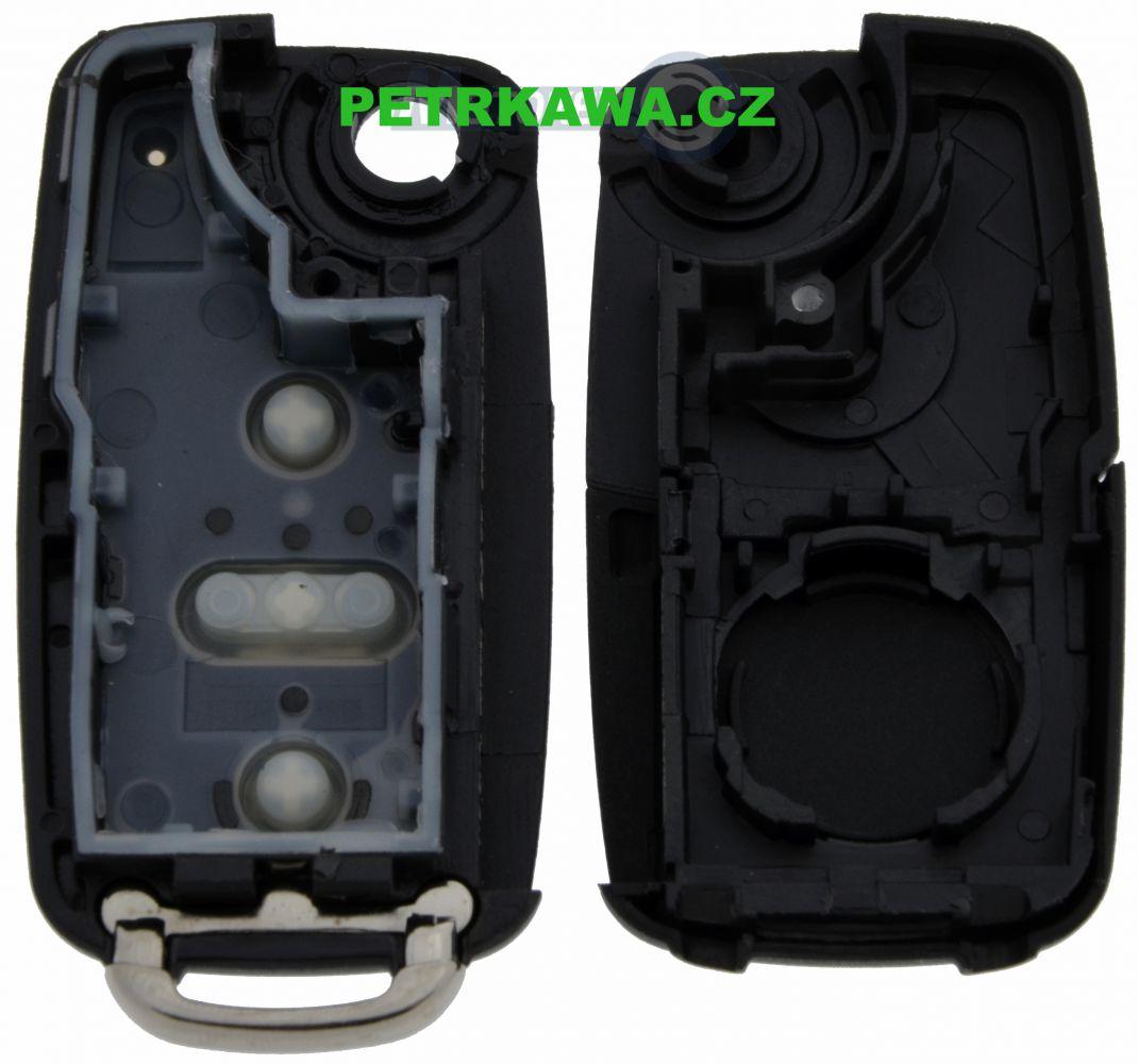 Obal klíče klíč VW GOLF 3-tlačítka ptw