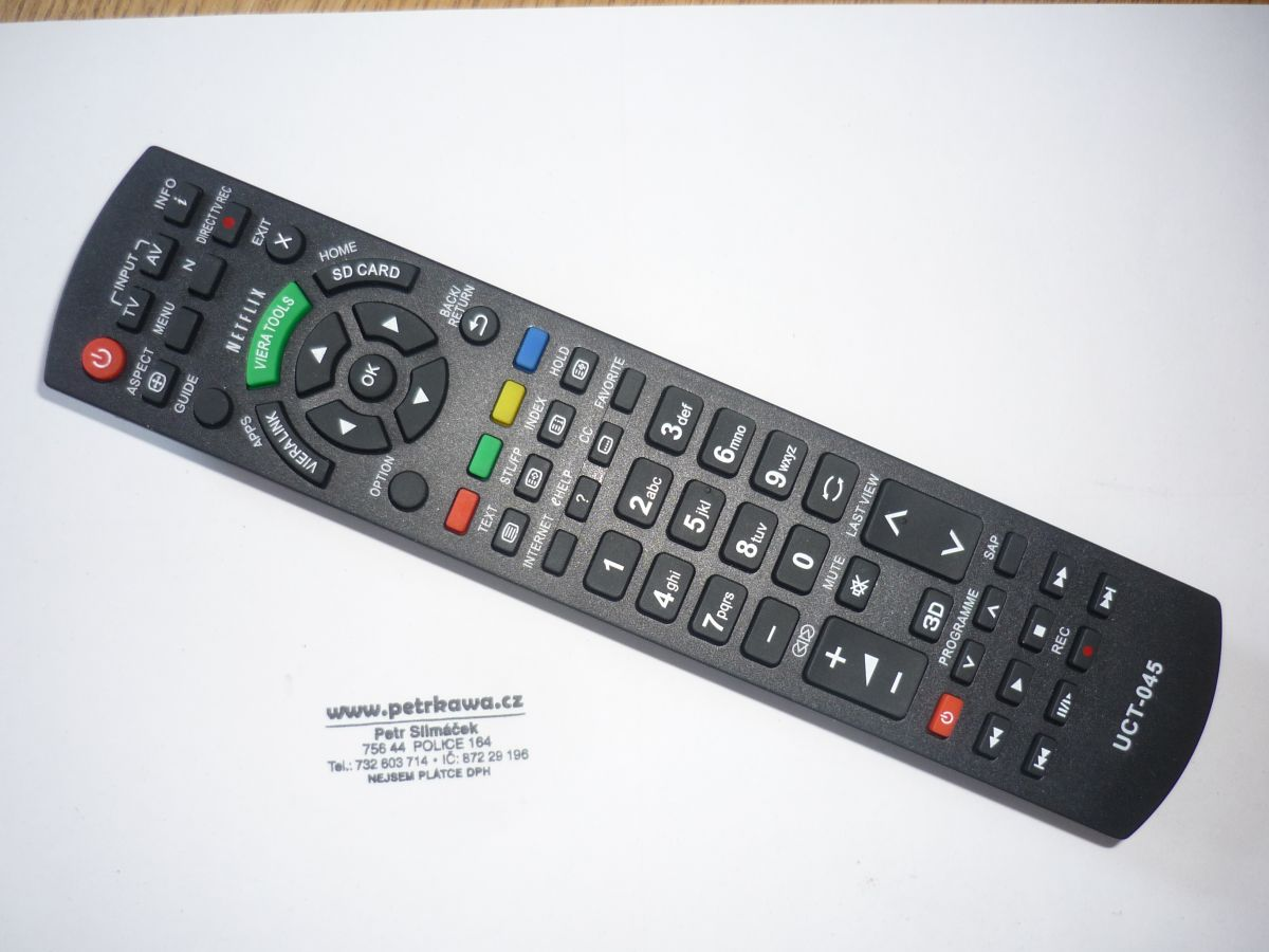 Dálkový ovladač ptw Panasonic UCT-045 LED 100% kvalita