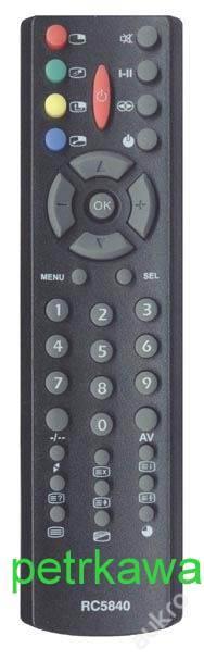 RC5840 dálkový ovladač PTW TV OVP ORAVA CTV2137A RC5841 RC5842