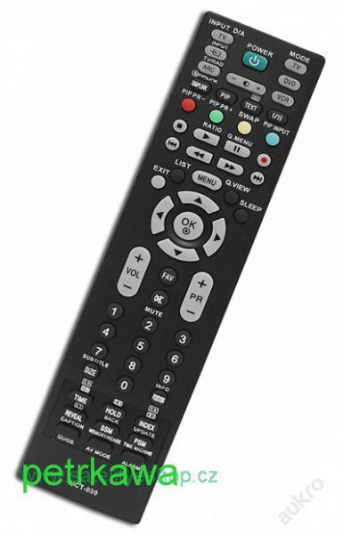 Dálkový ovladač PTW LG TV DVD LCD univerzální - kvalitní 100%