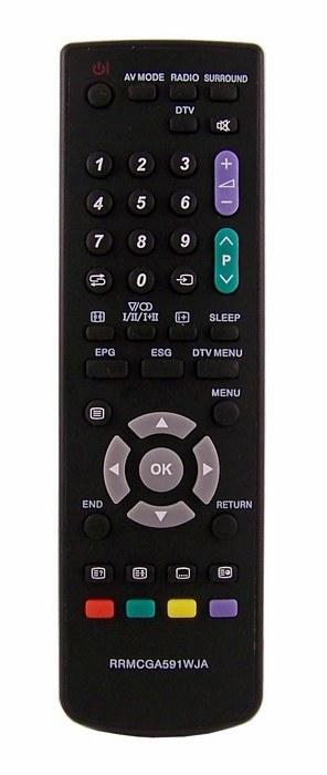 Dálkový ovladač PTW Sharp GA591WJSA GA 591WJSA LCD