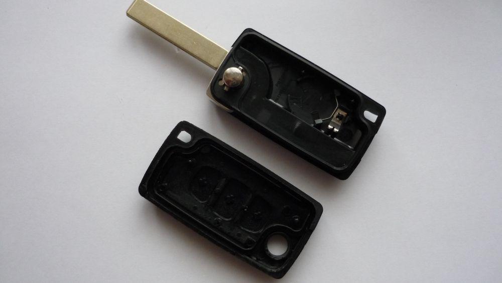 Obal klíč ptw Peugeot 407... - 3 tlačítka-kufr