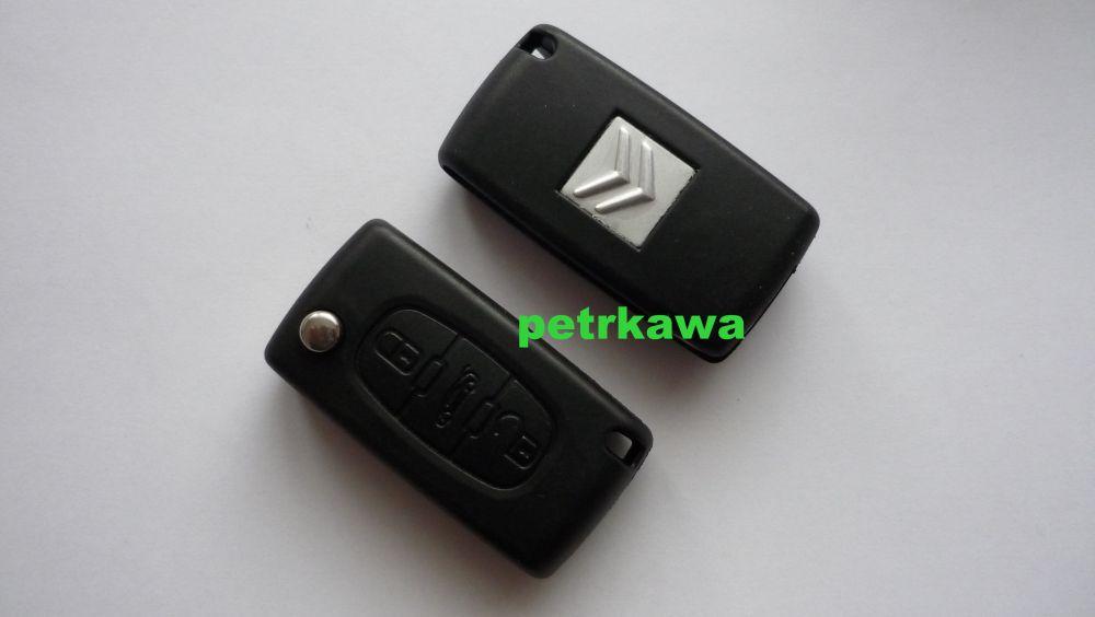 Obal klíč ptw Citroen C4 C 4 - 3 tlačítka-kufr