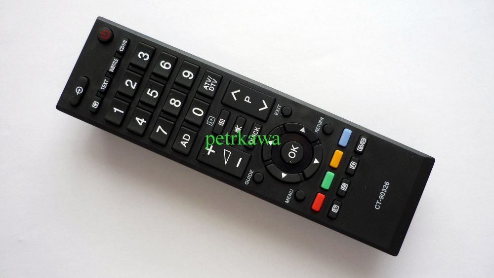 Dálkový ovladač PTW TOSHIBA CT90326 CT90327 CT90344 Regza