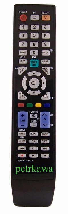 Dálkový ovladač PTW Samsung BN59-00937A BN59-00938A Plazma LCD