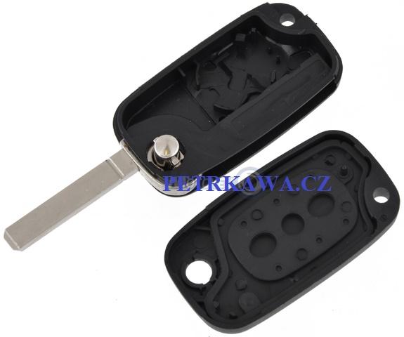 Obal klíče klíč PTW RENAULT Clio III IV Modus Fluence 2tlač.