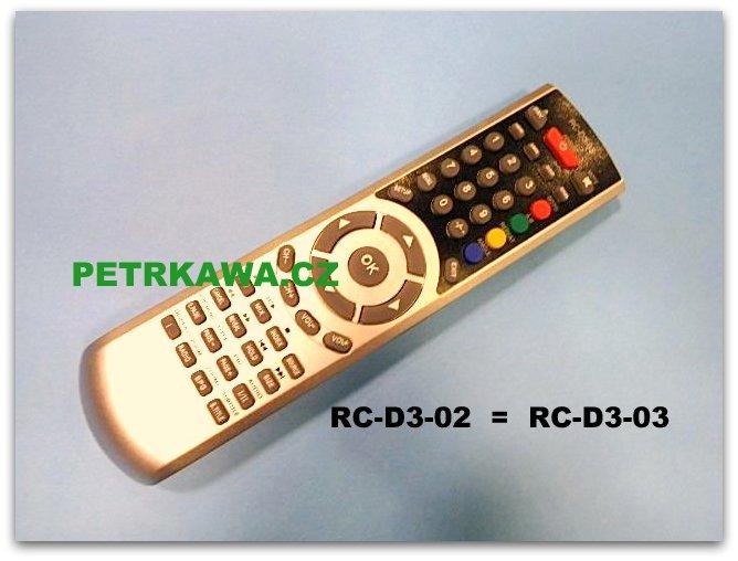 Dálkový ovladač Sencor Technika... RC-D3-02, RC-D3-03