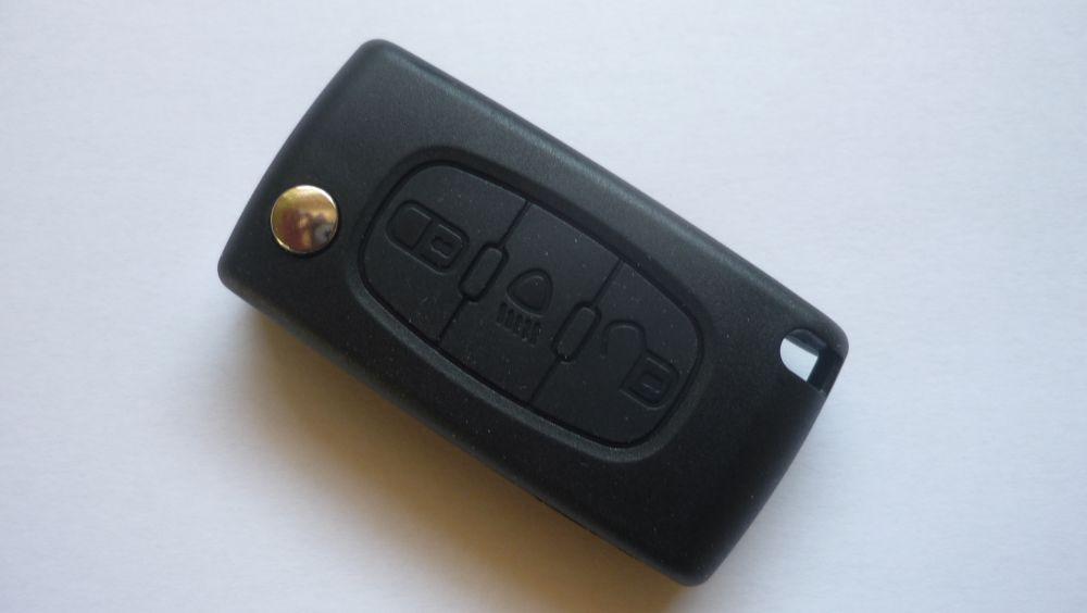 Obal klíč ptw Peugeot 407... - 3 tlačítka - světlo