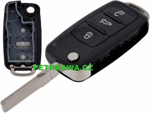 Obal klíče klíč VW touareg tiguan touran 3-tlačítka ptw